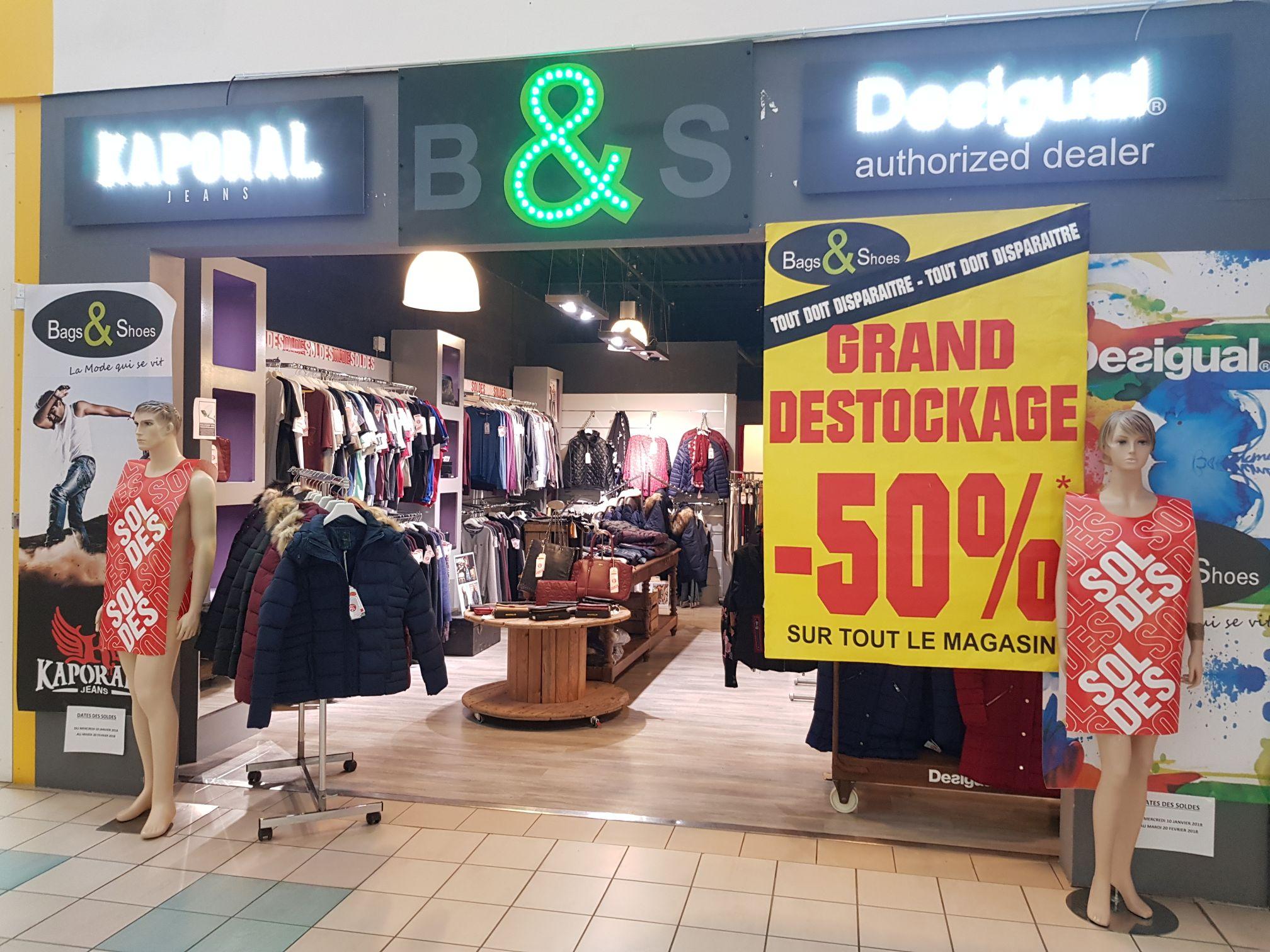 BAGS & SHOES 50% de remise immédiate sur tout le magasin - CC Leclerc Rochefort Sud (17)