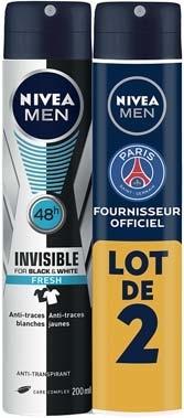 Lot de 2 déodorants Niveau Men au choix