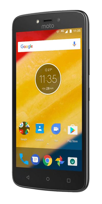 """Smartphone 5"""" Motorola Moto C Plus - 16Go de ROM, 1Go de RAM, MT6747, 4000mAh (via 30€ d'ODR)"""