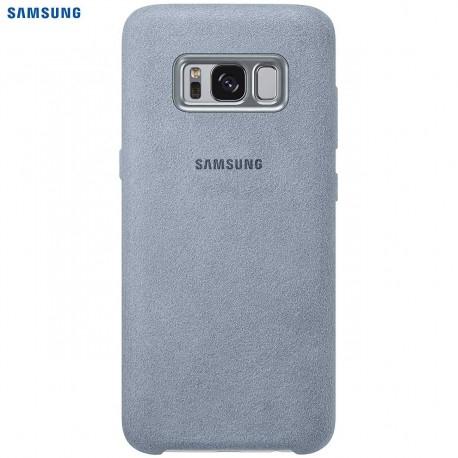 Coque officielle pour Samsung Galaxy S8+ Alcantara Mint en cuir EF-XG955AM (vendeur tiers)
