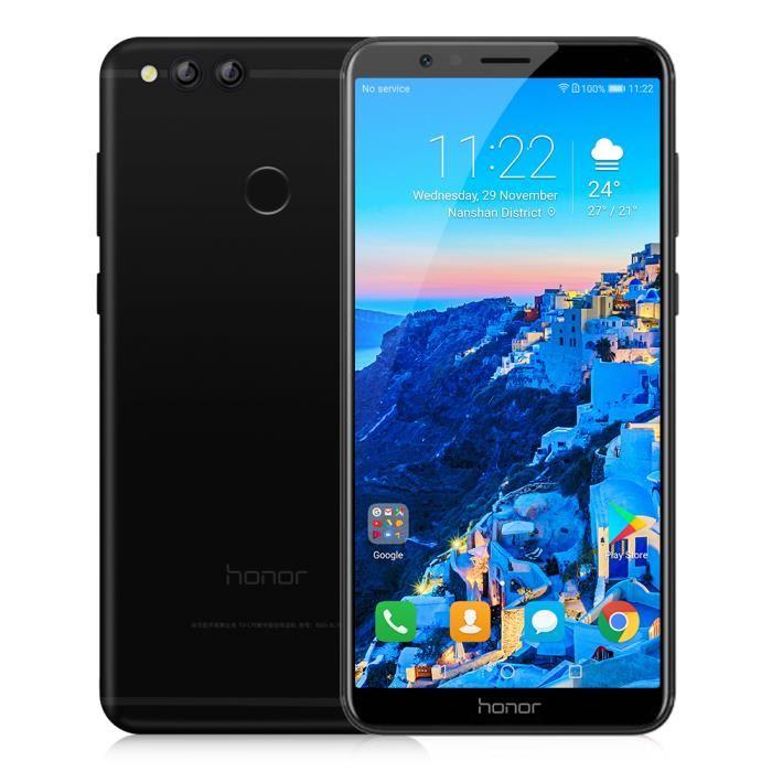 """Smartphone 5.93"""" Huawei Honor 7X - IPS (2160 x 1080), Kirin 659, RAM 4 Go, ROM 64 Go, Sans B20 (Vendeur Tiers)"""