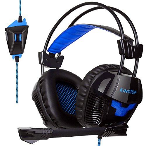 Casque audio Kingtop K11 - noir / bleu, pour PC & PS4 (vendeur tiers)