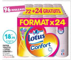 Lot de 96 rouleaux Lotus Confort
