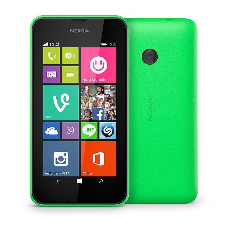 Smartphone Nokia Lumia 530 Double Sim - Vert (avec ODR 30€)