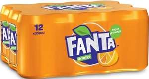 Lot de 2 packs de 12 canettes de soda Fanta Orange - 33 cl