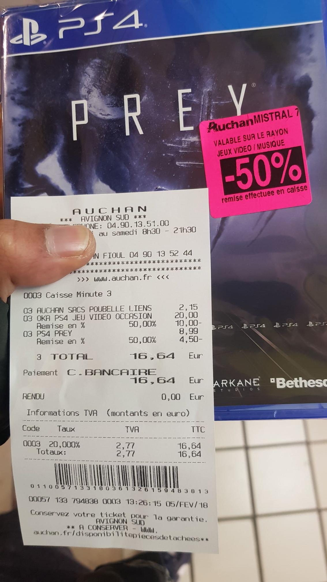 Jeu Prey sur PS4 - Auchan mistral 7 (84)