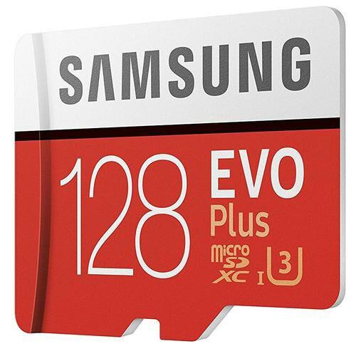 Carte Micro SDXC Samsung Evo Plus U3 - 128 Go avec adaptateur SD
