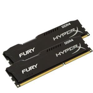 Lot de 2 barrettes de RAM HyperX FURY Black 2x4Go DDR4 - 2666Mhz