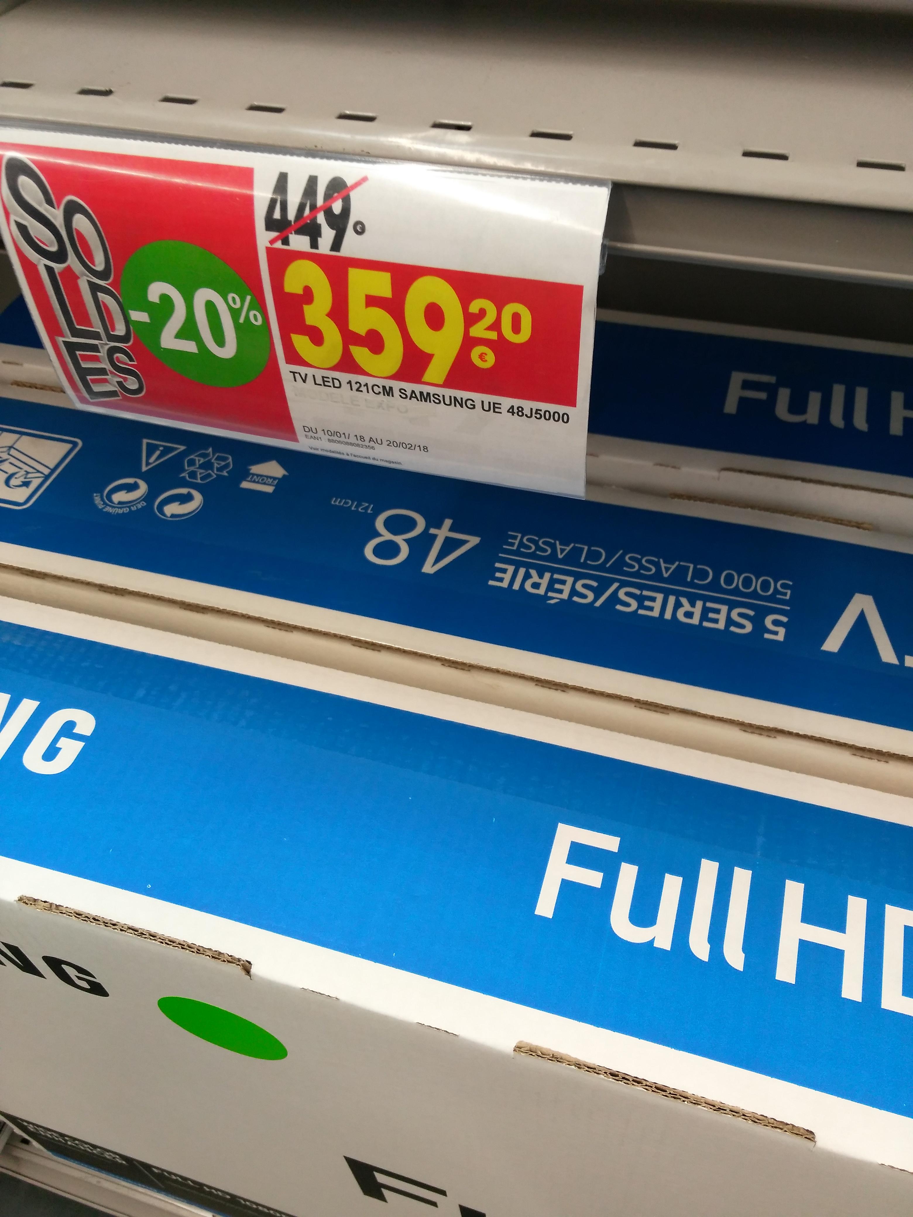 """Sélection de TV en promo - Ex : TV 48"""" Samsung UE48J5000  - LED, Full HD (Chalon-sur-Saône 71)"""