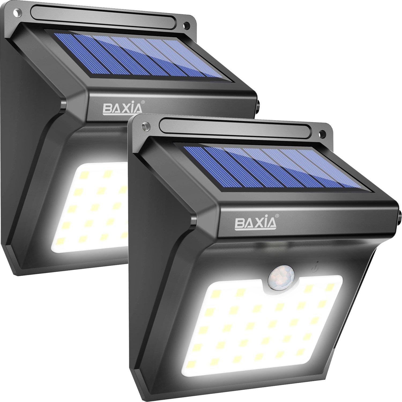 Lot de 2 lampes solaire BAXiA - 28 LED avec Détecteur de Mouvement (vendeur tiers)