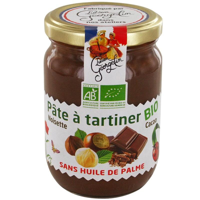 Pot de pâte à tartiner biologique Lucien Georgelin - 280 g, sans huile de palme (via 0.9€ sur la carte)