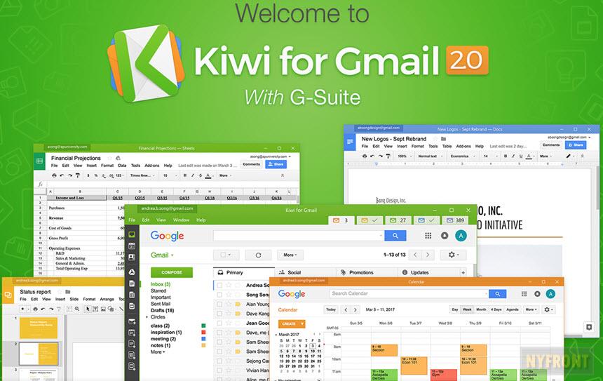 Logiciel Kiwi for Gmail gratuit pendant 1 an sur Mac ou Windows (dématérialisé)