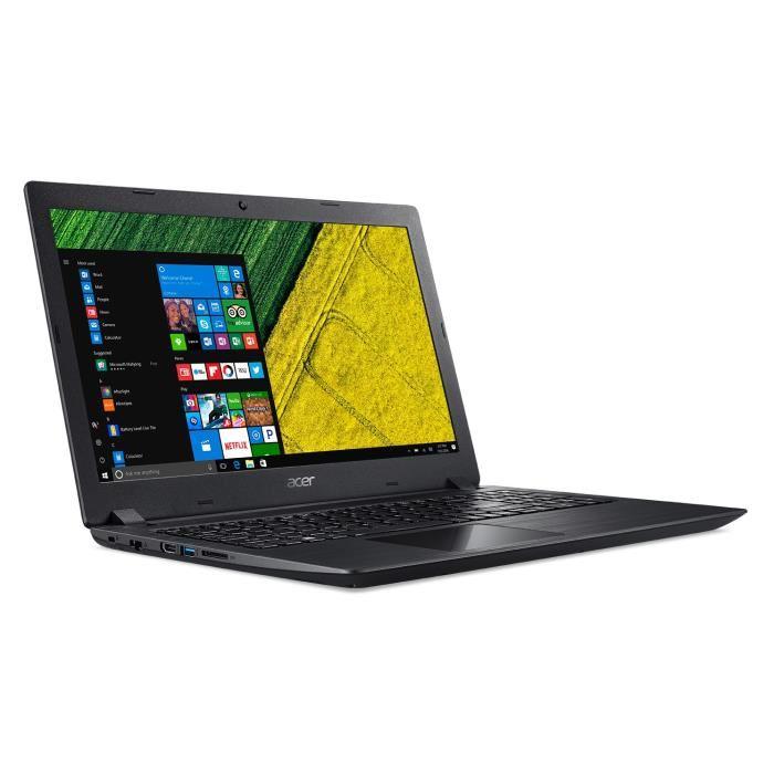 """PC Portable 15.6"""" Acer Aspire A315-21-996B - HD, A9-9420, RAM 8 Go, HDD 1 To + SSD 128 Go, AMD Radeon R5, Windows 10"""