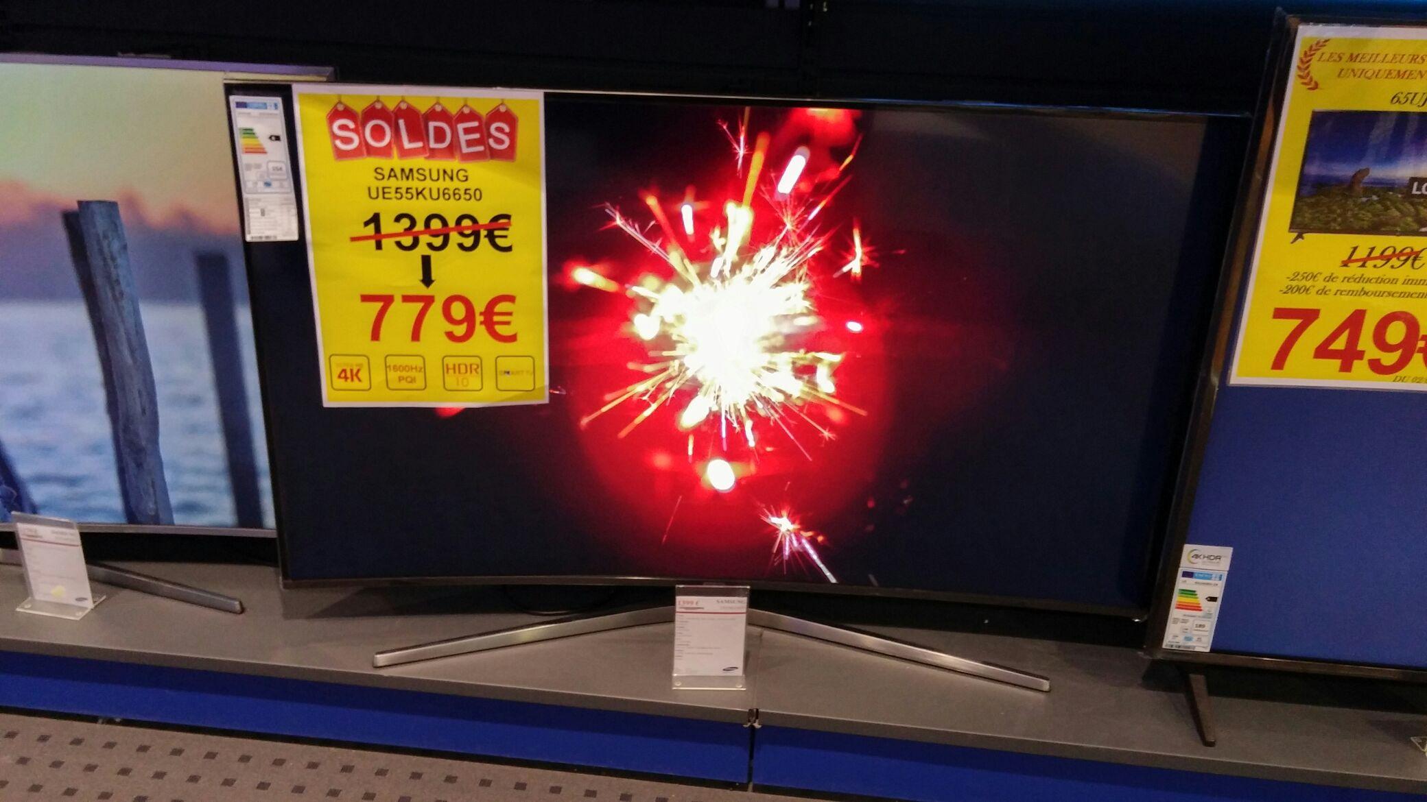 "TV 55"" Samsung UE55KU6650 - Moulins (03) centre culturel leclerc"