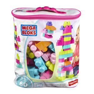 Sac de briques de construction Mega Bloks First Builders Medium - 60 pièces, bleu à 10.69€ ou rose à 9.9€