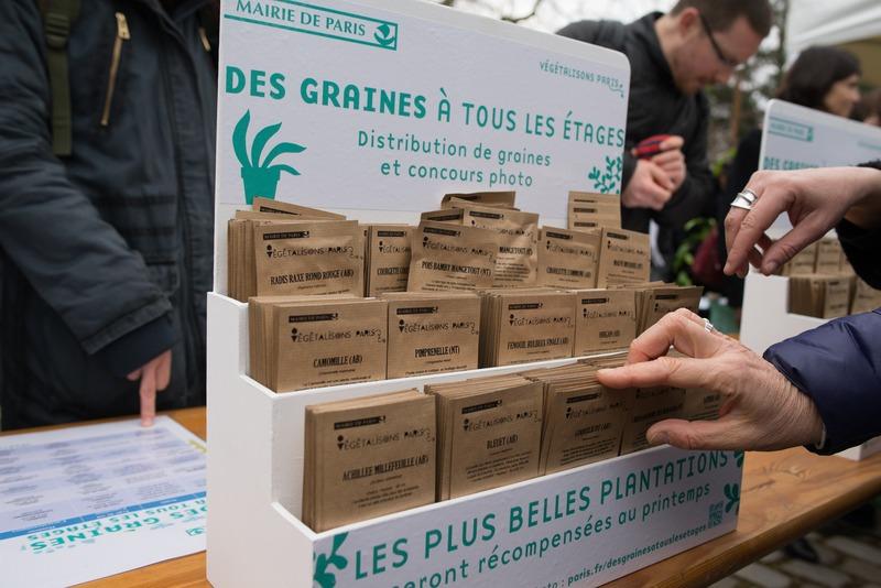 Distribution gratuite de 50 000 sachets de graines à partir du 17 mars - Paris (75)