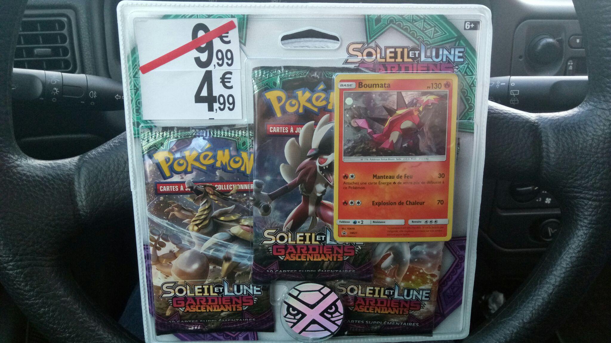 Pack de 3 boosters cartes Pokémon Soleil et Lune - Gardiens Ascendants - Vannes (56)