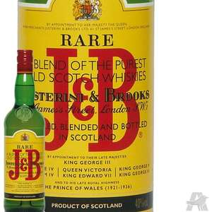 Bouteille de Whisky Blended Scotch J&B Whisky J&B Rare - 40° 1L