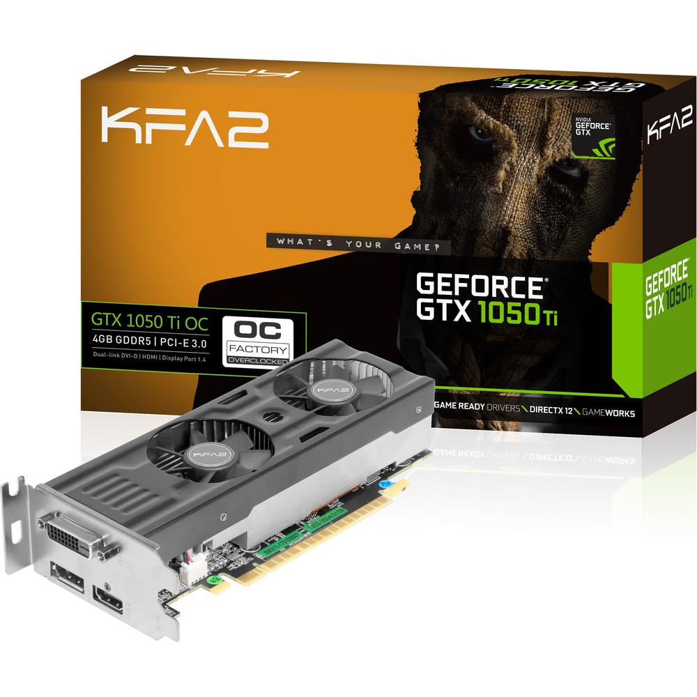 Carte graphique KFA2 GeForce GTX 1050 Ti OC LP - 4 Go