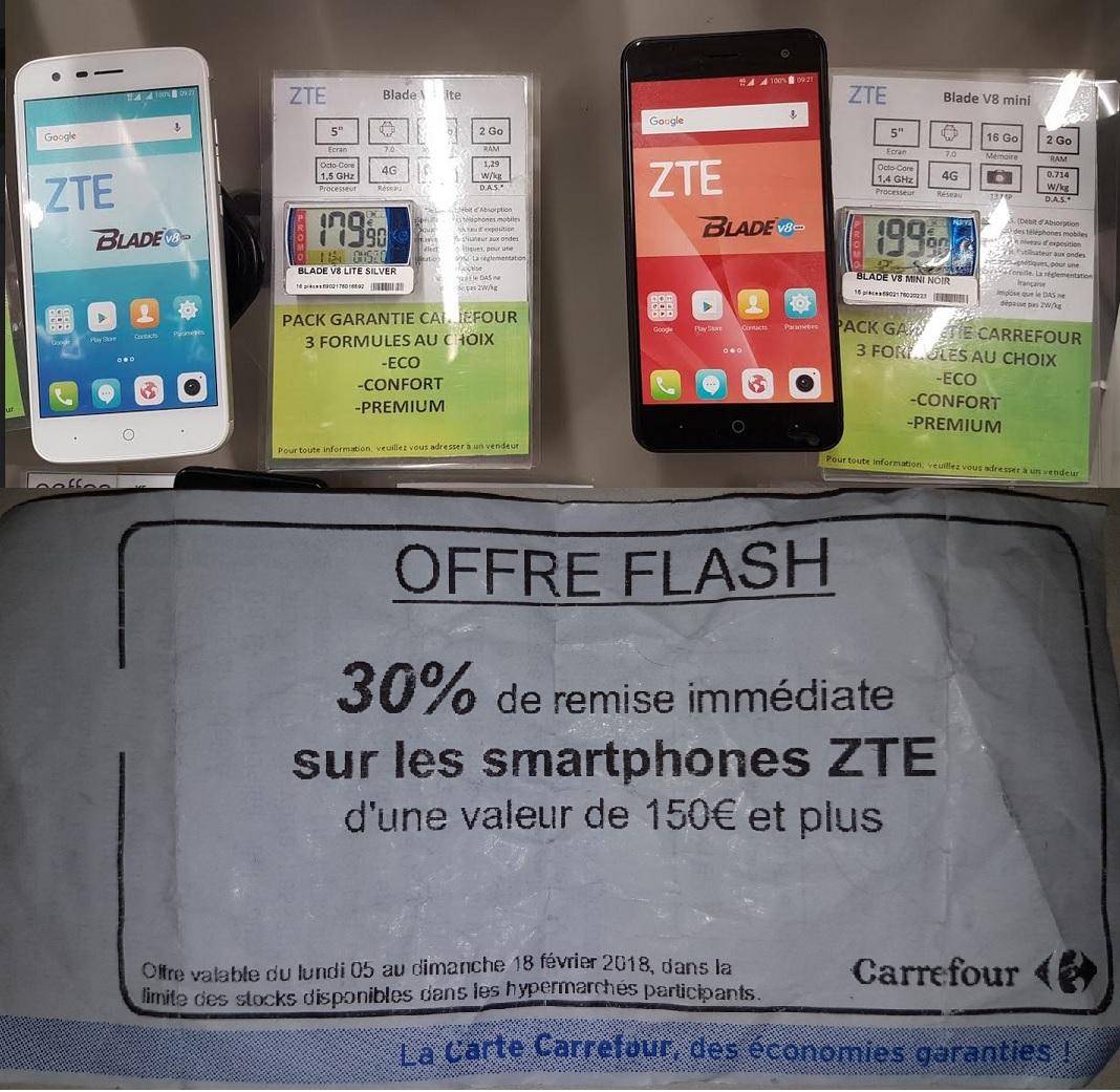 Sélection de smartphone ZTE Blade en promotion - Ex : V8 Lite (via ODR de 50€)
