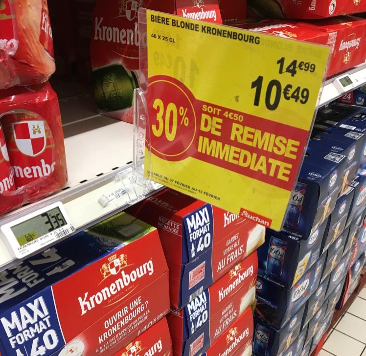 40 x 25 cl de bière Kronenbourg - Le Pontet (84)