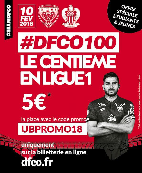 [-18ans et Etudiants] Billet pour le match - DFCO Nice