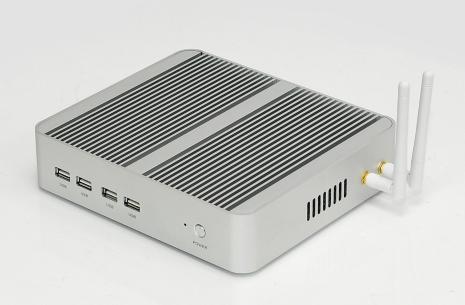 Sélection de Mini PCs Fanless (sans RAM ni stockage) - Ex : Mini Pc Fanless avec i3-7100U (frais de douanes inclus)