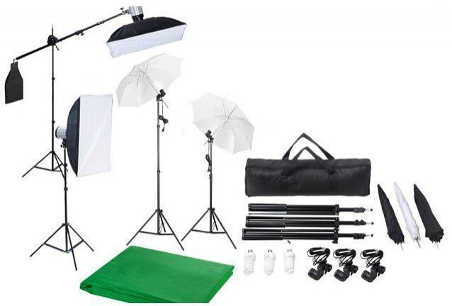 Kit de studio photo professionnel avec accessoires au choix