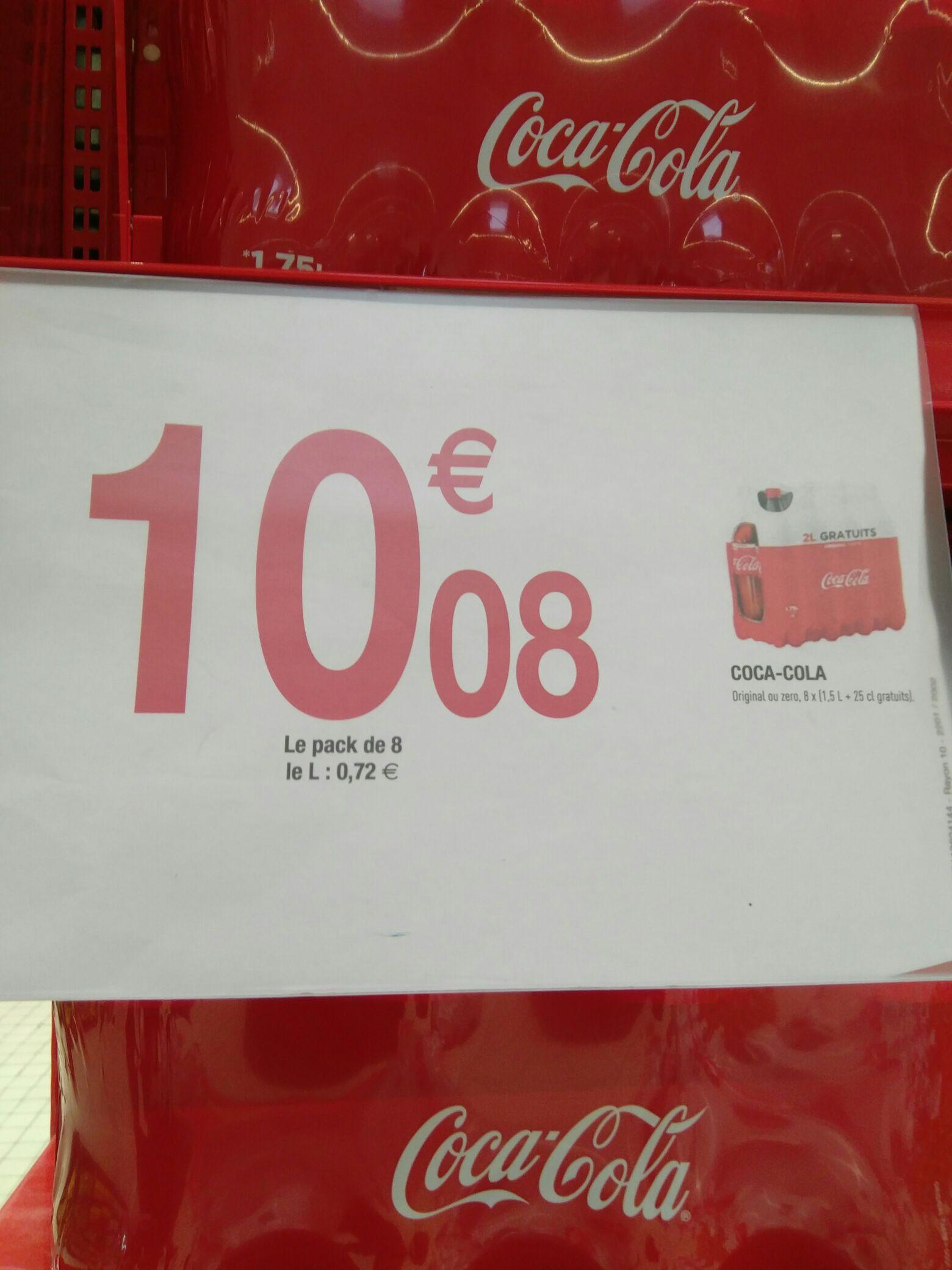 Pack de 8 bouteilles de 1.75L de Coca-Cola (Avignon 84)