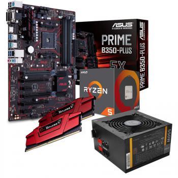 Kit d'évolution PC MEDI KIT + AMD Ryzen 5 1600 + Asus PRIME B350-PLUS + 16 Go DDR4 2666 MHz + Alimentation Antec Neo ECO 550M