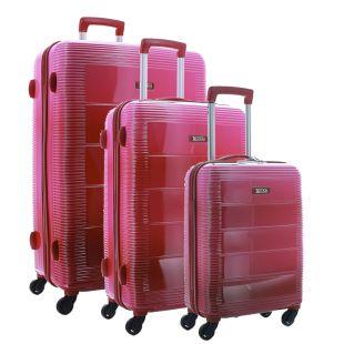 Lot de 3 valises S/M/L 100% polycarbonate - Plusieurs couleurs au choix