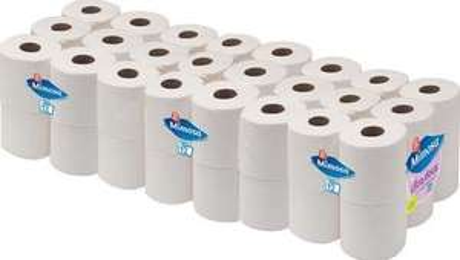 Lot de 4 Paquets de Rouleaux de Papier Hygiènique Mimosa (Coloris au choix) - 4 x 12
