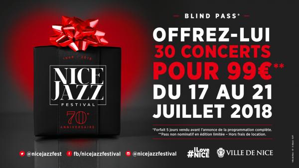 Pass 5 jours pour Festival Nice Jazz (avec Massive Attack)
