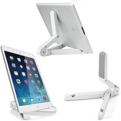 Support Réglable / Ajustable pour Tablettes - Blanc