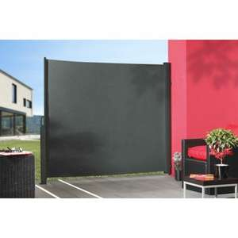 panneau textile occultant sunslid 5 300x180 cm gris. Black Bedroom Furniture Sets. Home Design Ideas