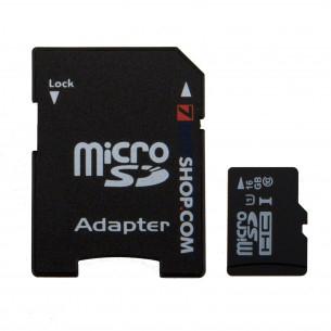 Carte mémoire Micro SDHC 7dayshop 16Go - Classe 10 UHS-I + Adaptateur