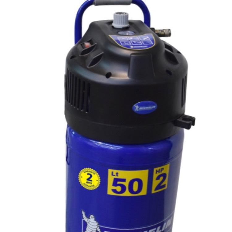 Compresseur électrique Michelin - 2 cv, 50 L, bleu