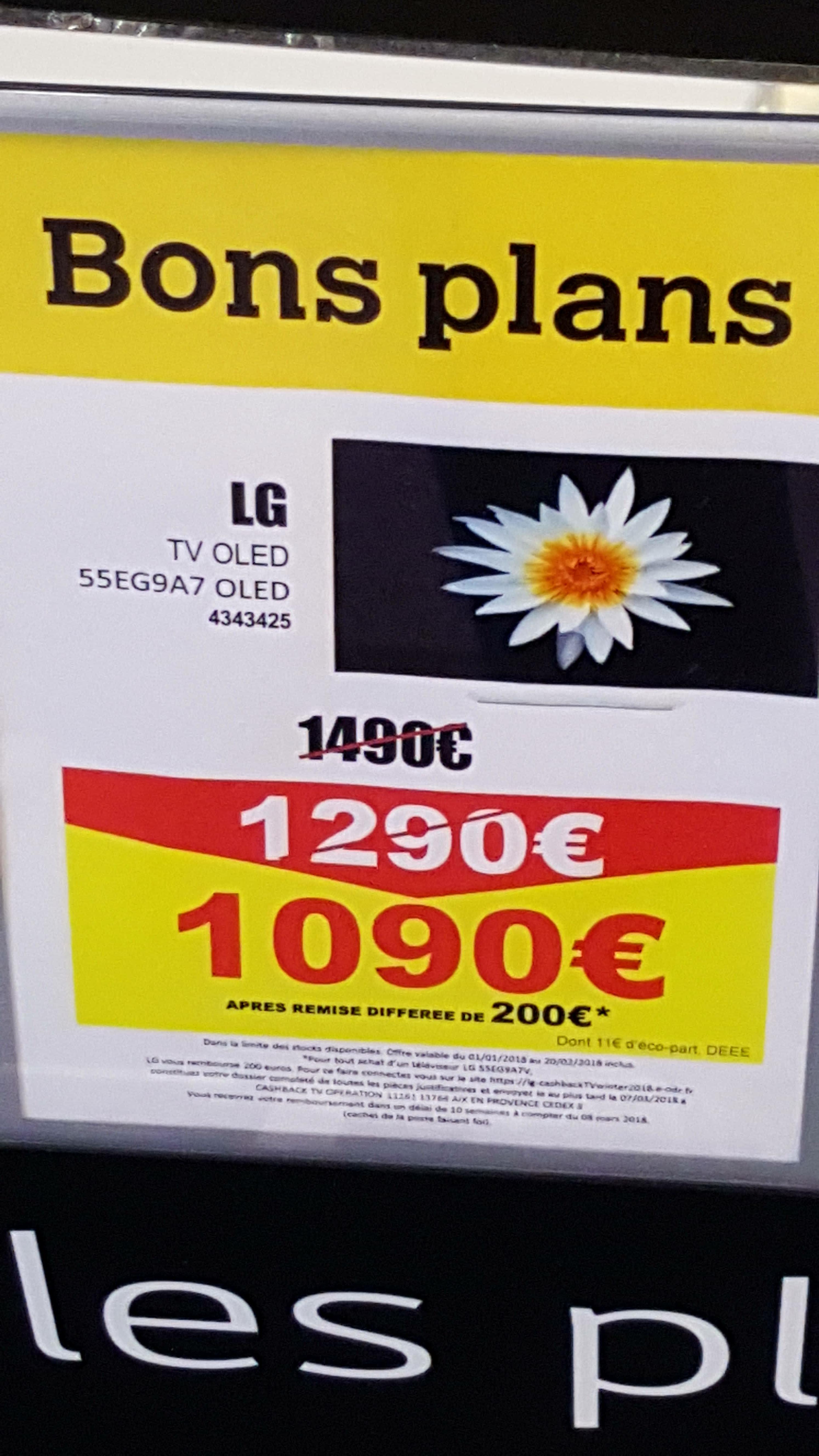"TV 55"" LG 55G9A7V - OLED, Full HD, Web OS 2.0 - Nantes (44)"