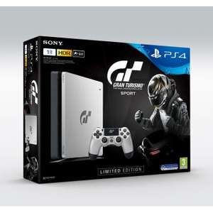 Console Sony PS4 1To Edition Limitée Argent + Gran Turismo Sport