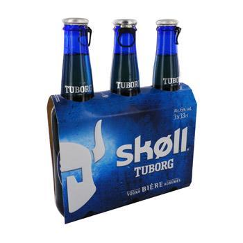 Bière Skoll Tuborg 3 x 33cl ( 30% immédiat + BDR )