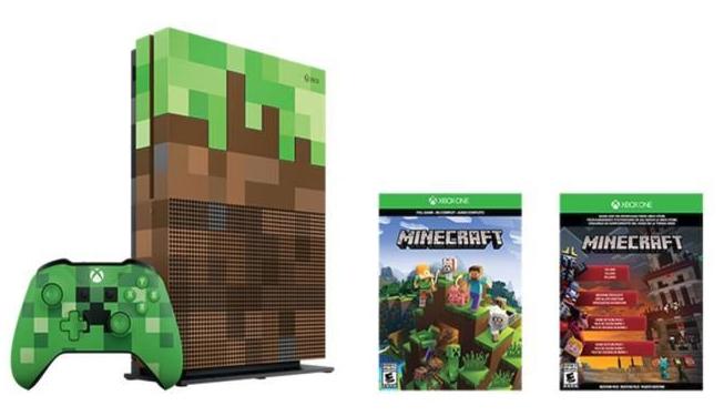 [Cdiscount à volonté] Console Microsoft Xbox One S - 1 To (Edition Limitée Minecraft)