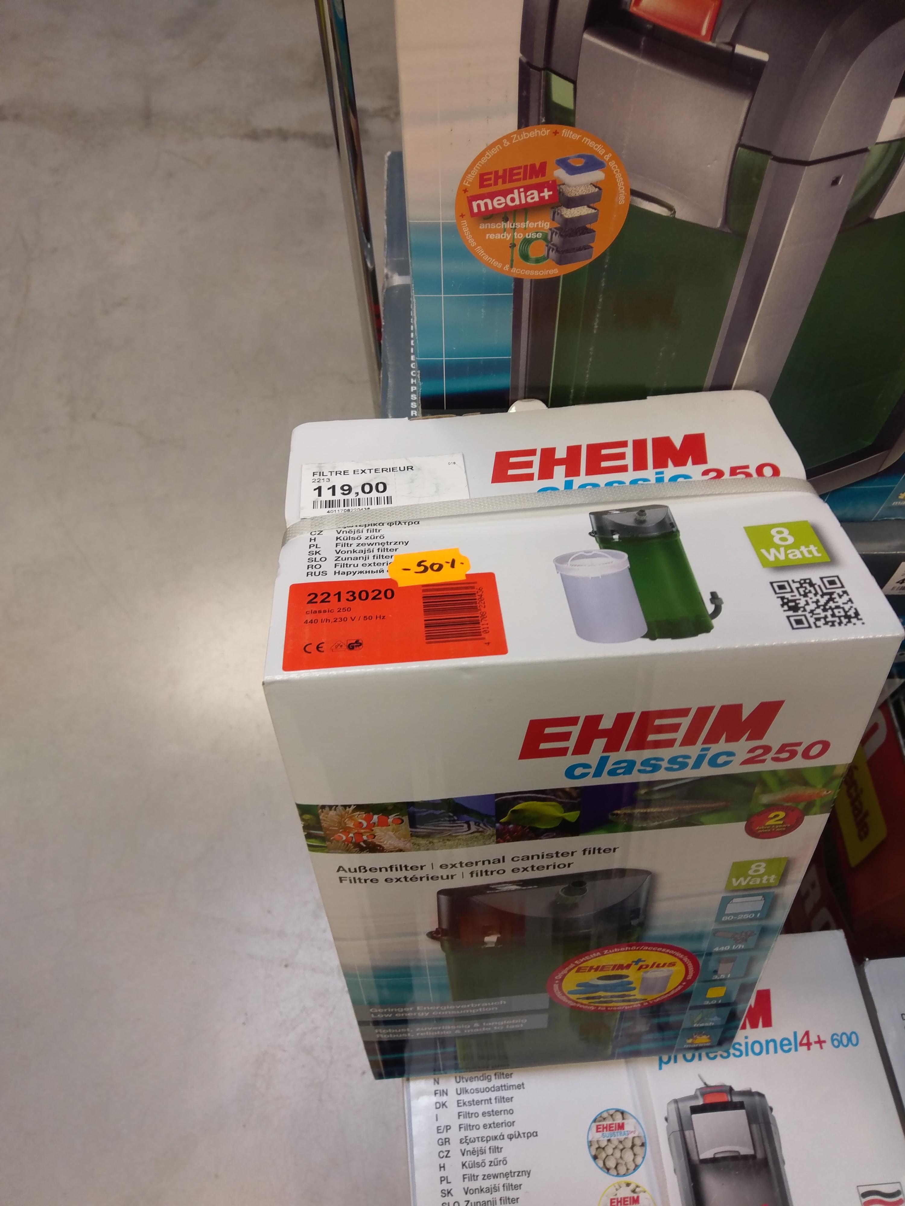 Sélection de filtre extérieurs pour aquarium - Ex : Eheim Classic 250 chez Maxi Zoo Thillois (51)