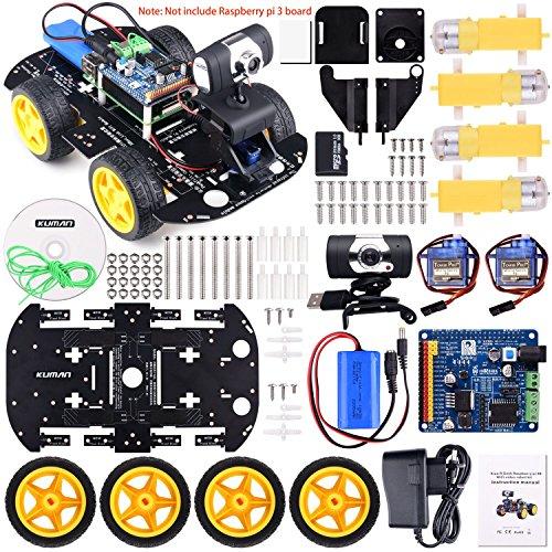 Voiture Kit Caméra Vidéo pour Raspberry Pi 3 RC Télécommande Robotique (vendeur tiers)