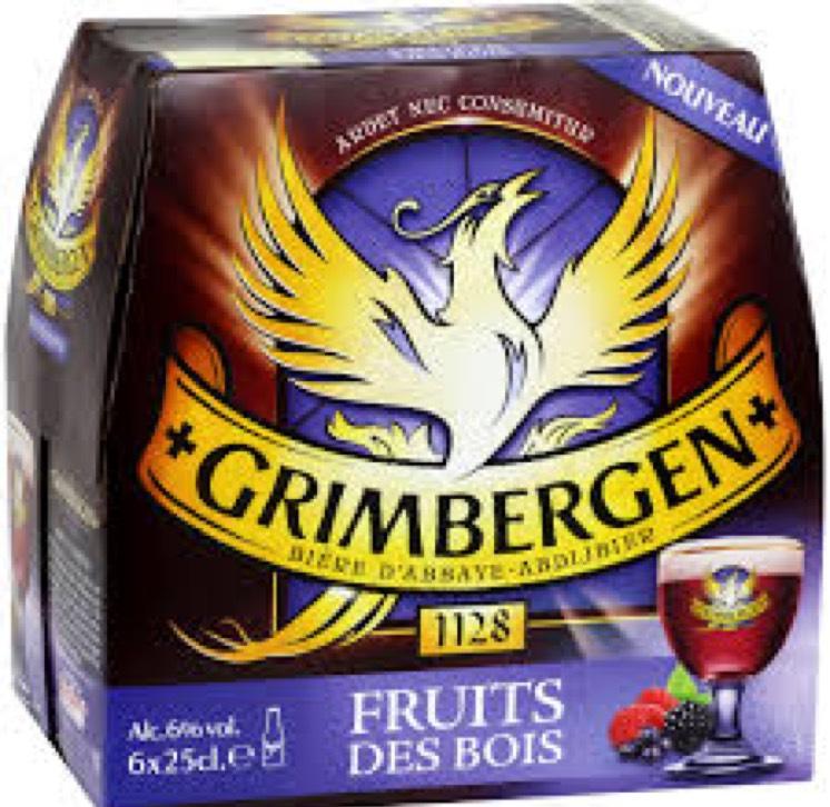 Pack de 6x25cl bières Grimbergen Fruits des Bois -  Poitiers (86)