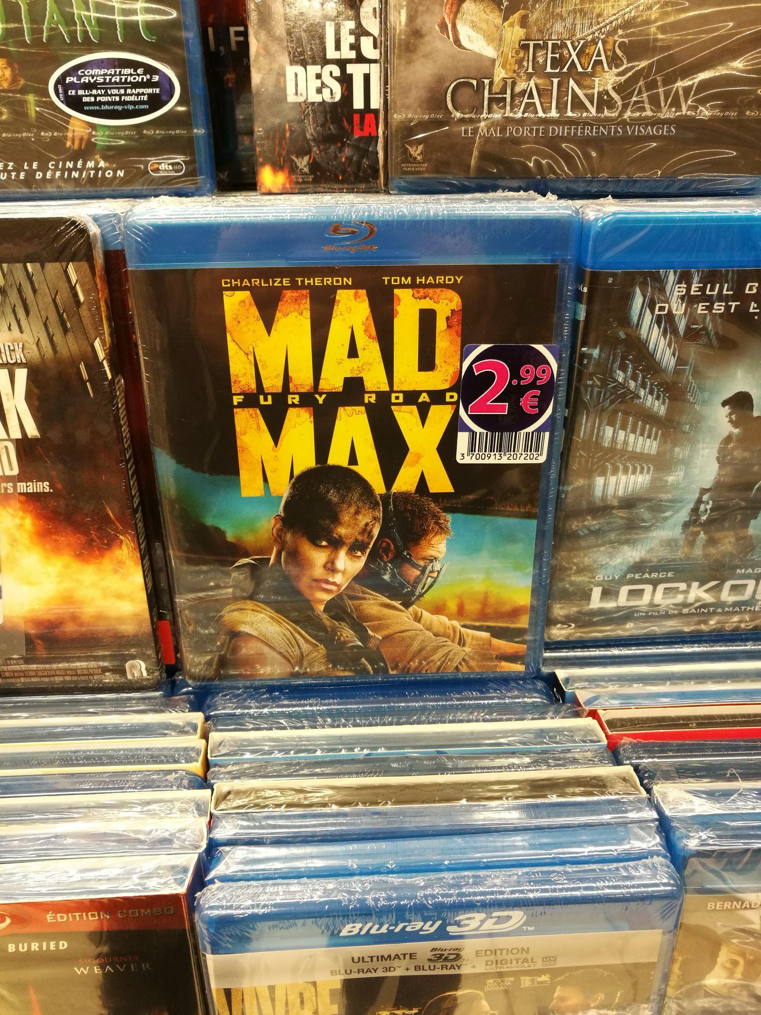 Sélection de Blu-ray à 2.99€ - Ex : Mad Max: Fury Road au Auchan Bois Sénart Cesson (77)