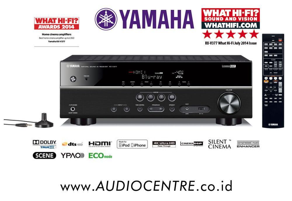 Ampli Home Cinema 5.1 Yamaha RX-V377 Noir