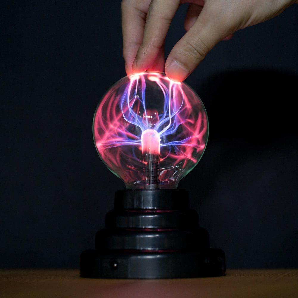"Mini lampe sphère plasma 3"" (11 x 11 x 15 cm)"