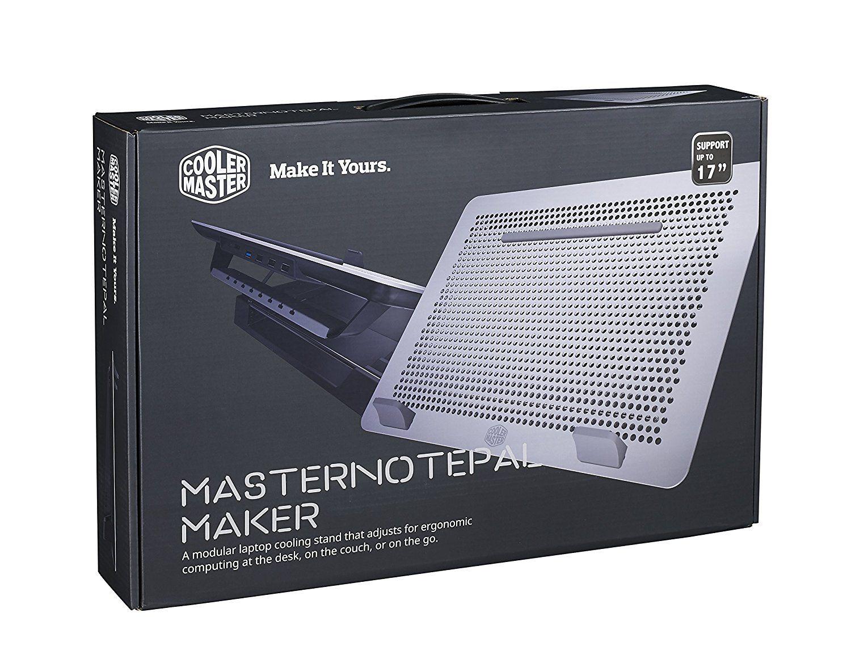 """Support ventilé modulaire Coolermaster Maker MNZ-SMTE-20FY-R1 pour PC Portable jusqu'à 17"""""""