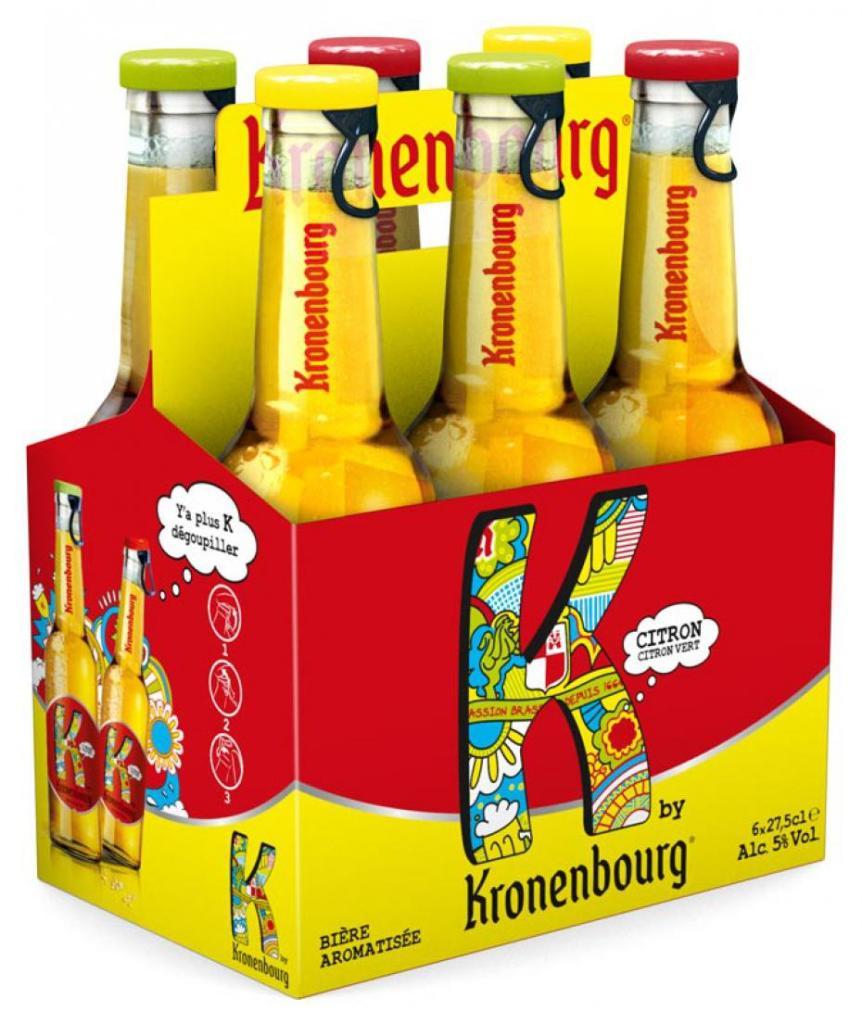 Bière aromatisée K By Kronenbourg (30% immédiat + 2€ BDR)