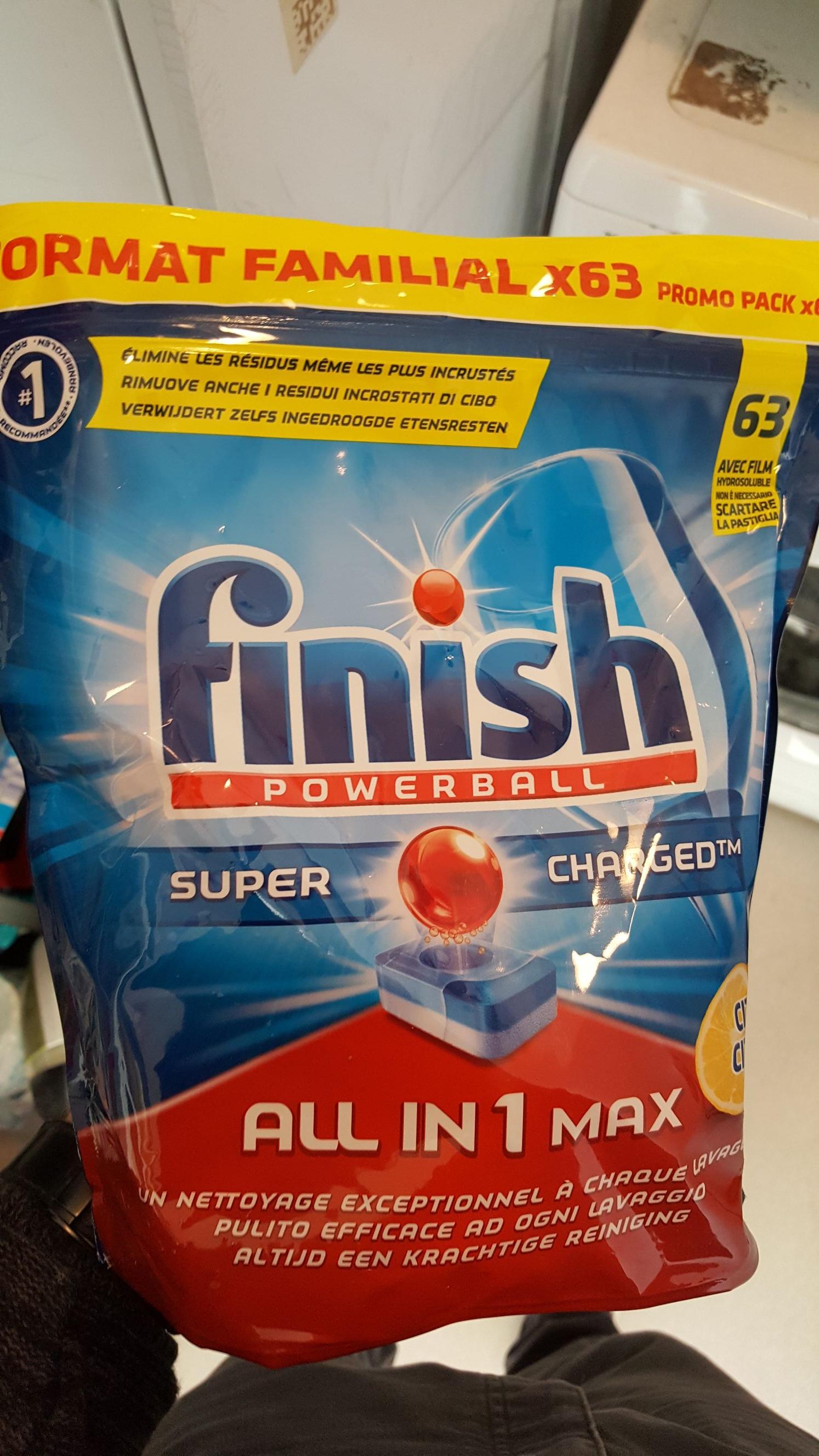 3 Paquets de tablette pour lave-vaisselle Finish - 63 tablettes par paquet